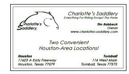 Charlotte's Saddlery - Corporate Sponsor