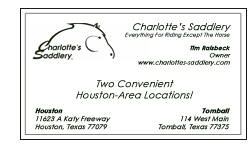 Charlotte's Saddlery - Corporate Sponsor